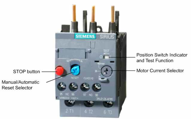 Front-facing capabilities of an overload relay