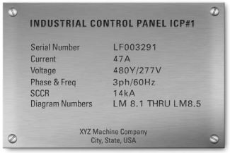 How to determine the short-circuit current rating (SCCR) of a control panel