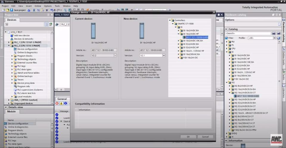 Siemens: How to troubleshoot hardware or firmware mismatches in TIA Portal