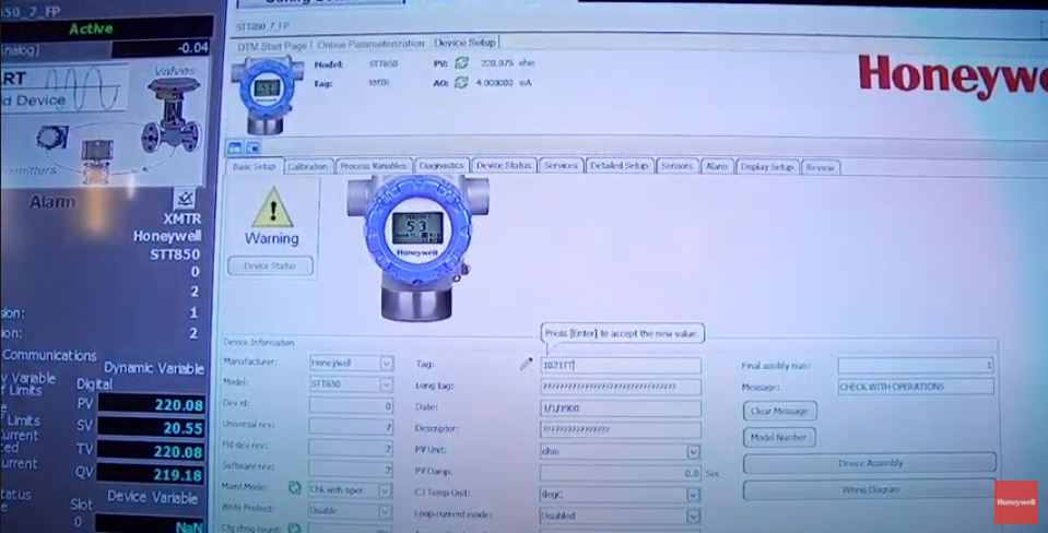 Honeywell: How to edit SmartLine Transmitter configurations via Field Device Manager